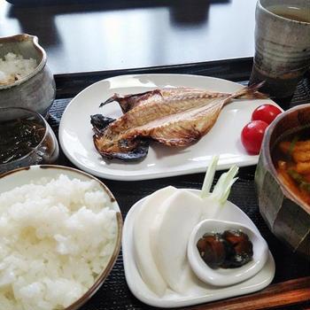ぬか漬けが美味しい^^ しっかり和食の朝ごはん