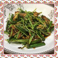 豚肉・ニンニクの芽・豆苗の辛味噌炒め(レシピ付) by kajuさん