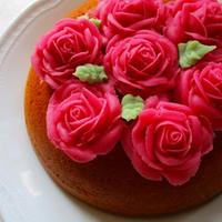 薔薇の花咲く♡ホットケーキミックスで炊飯器ケーキ♡