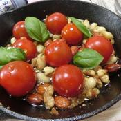 プチトマトと豆とナッツの味噌アヒージョ