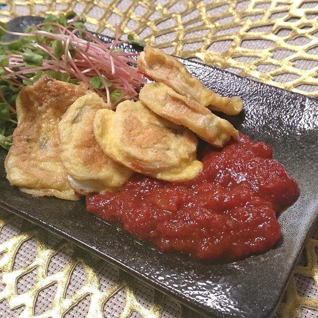 麸のピカタとフレッシュトマトケチャップ