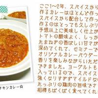 スパイスセミナーin東京2012 -10- 「スパイスセミナーで配合したカレーパウダーで作ったチキンカレー」