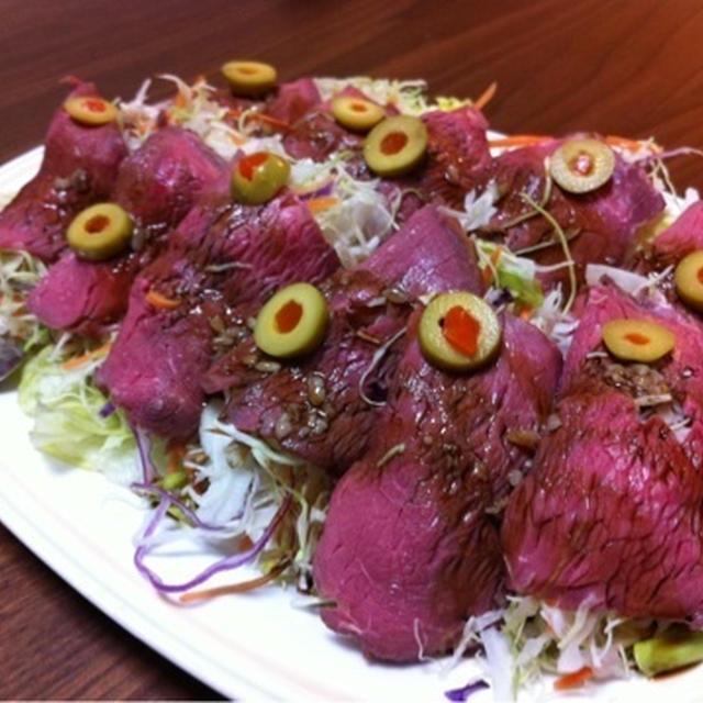 こんなに素敵に見えるのに、まさか~!ローストビーフの巻巻サラダ