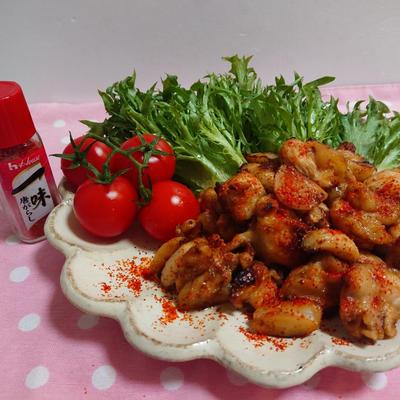 鶏かた肉のにんにく炒め【減塩】