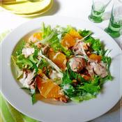 スパイスde香りポークとオレンジのヨーグルトサラダ
