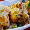 【晩ご飯です♪】揚げ出し豆腐の甘酢餡かけ/青さとトマトのソテー/自家製白菜漬けです。 by あきさん