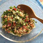 パセリたっぷりブルグルのサラダ「レバノン風タブレ」