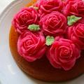 バレンタイン♡薔薇ケーキ♪(甘酒で炊飯器ポン!)