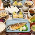 今が旬♫鯖の塩焼きで定食風お昼ごはん