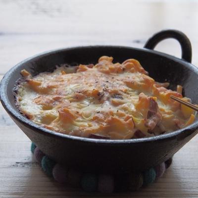 ひき肉とさつまいものクリーミーチーズ焼きと食べた物日記帖