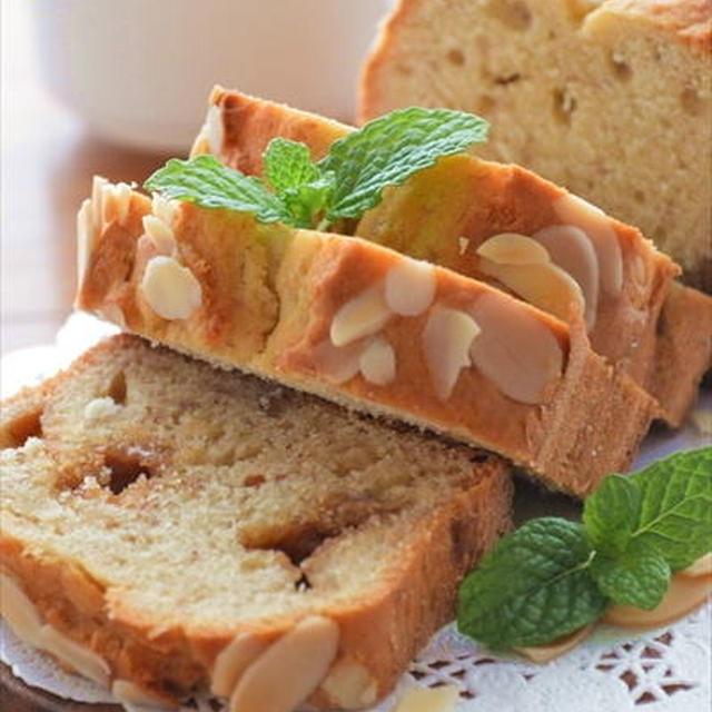 ホットケーキミックスで♪バナナとピーナツバターのパウンドケーキ ☆