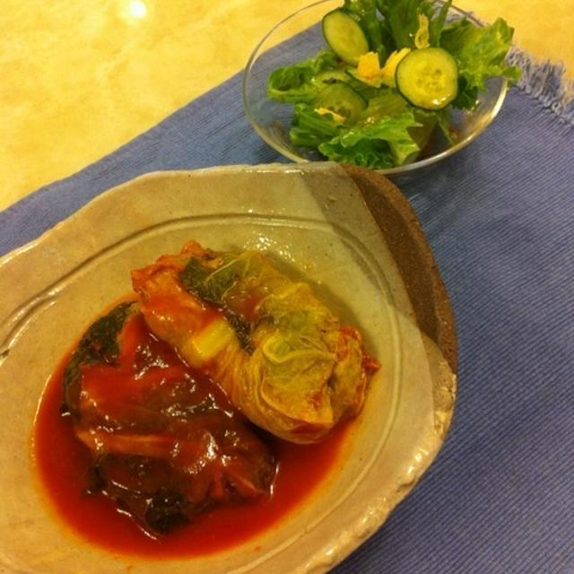 豆腐のロール白菜☆