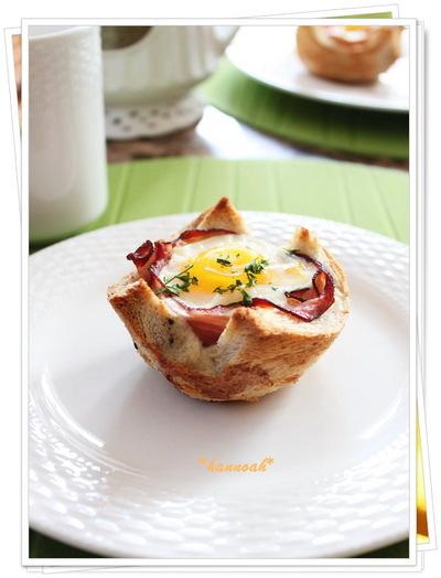 朝食 カップブレッド