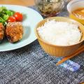 茄子の肉詰めメンチカツ韓国風