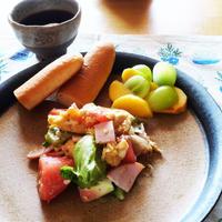 5分!レタスとトマトの卵炒め【減塩】