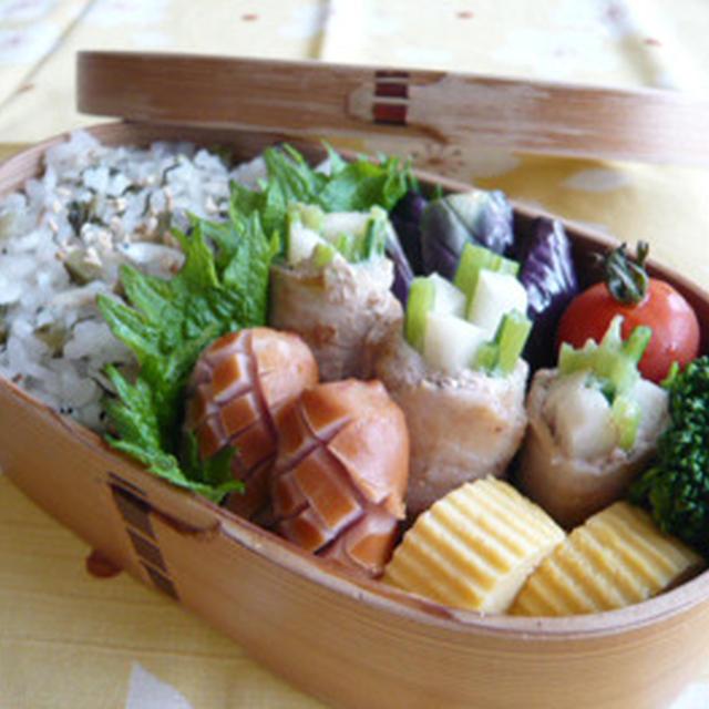 しらす×野沢菜漬けご飯のお弁当
