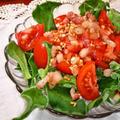 トマト&アイスプラントのサラダ ~ レモンとパンチェッタの温ドレッシング