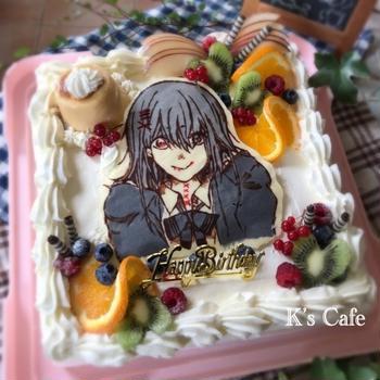 推しキャラと同じ誕生日な娘1のバースデーケーキ♡