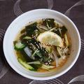 キュウリとわかめの冷たい韓国スープ