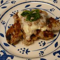 カツオのパン粉焼き・納豆クリームチーズソース