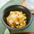 ちょっと香ばしい焼き白菜がお酒に合う〜!割烹白菜漬で簡単おつまみポテサラ。