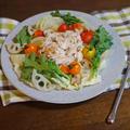 ごはんによく合う 鶏ささみと彩り野菜の温サラダ