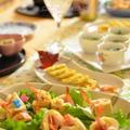 1日遅れの記念日パーティーは♫トロピカーナでカンパーイ★和風仕立て✿高野豆腐の海老ベーコン