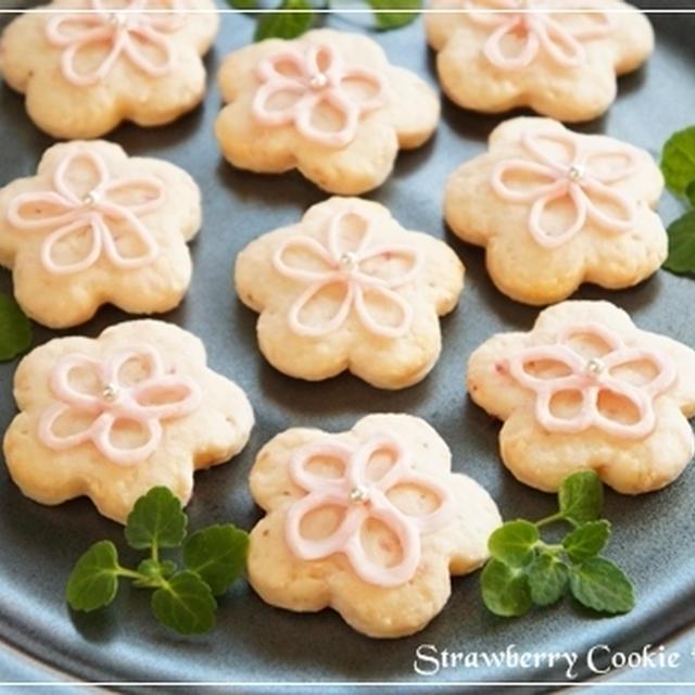 桜咲く♪「いちごクッキー」