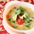 ひよこ豆とパクチーの超簡単スープ