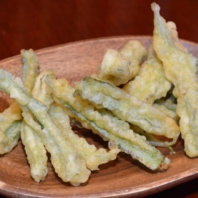 しかく豆の天ぷら