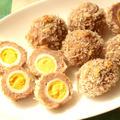 材料4つ!揚げないスコッチエッグの一番簡単なレシピ。うずらの卵でトースターで楽な作り方。
