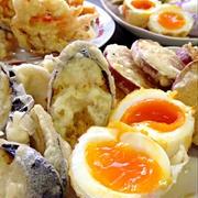 半熟卵の天ぷらです☆