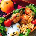 【キャラ弁】ホワイトタイガーおにぎりとマヨチキン弁当 by Misuzuさん
