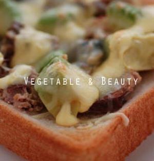 【さば缶】 アボカドとさば水煮のオープントースト