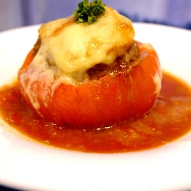 クリスマスにも☆まるごとトマトハンバーグと晩ごはん