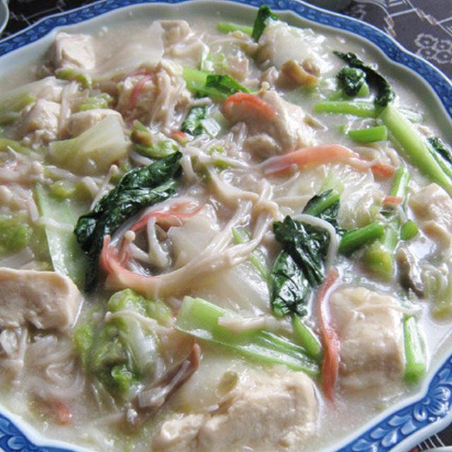 いたわりメニュー【豆乳スープ・絡み豆腐】