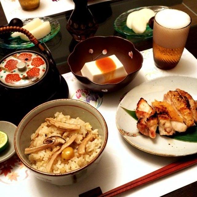 ひと足早い秋の味覚、松茸♪