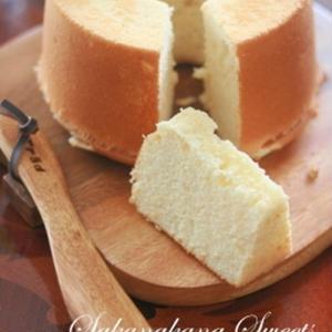 もちもち食感がたまらない!豆腐で作る「シフォンケーキ」