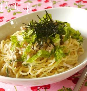 鮭缶とお豆腐のカルボナーラ風