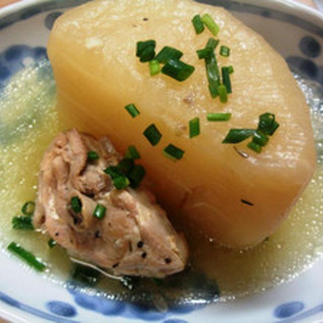 ジャンボ大根と鶏のスープ