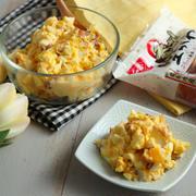 お弁当にも作り置きにも。食感が楽しい卵サラダ。