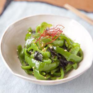和えても炒めてもおいしい!「ピーマン×海苔」のお手軽副菜レシピ