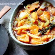 ♡フライパンde超簡単♡鶏むね肉と白菜の甘酢あんかけ♡【時短#節約#連載】