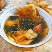 【モニター】ちょいたしでトマキムチーズわかめスープ