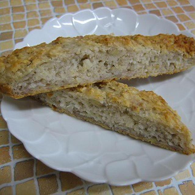 ノンオイル・ノンシュガーの米粉のバナナケーキ♪(卵・乳アレルギーでもOK!)