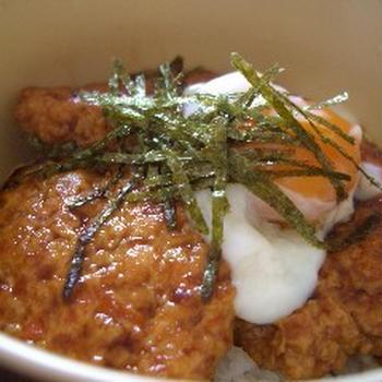 豆腐ハンバーグ丼
