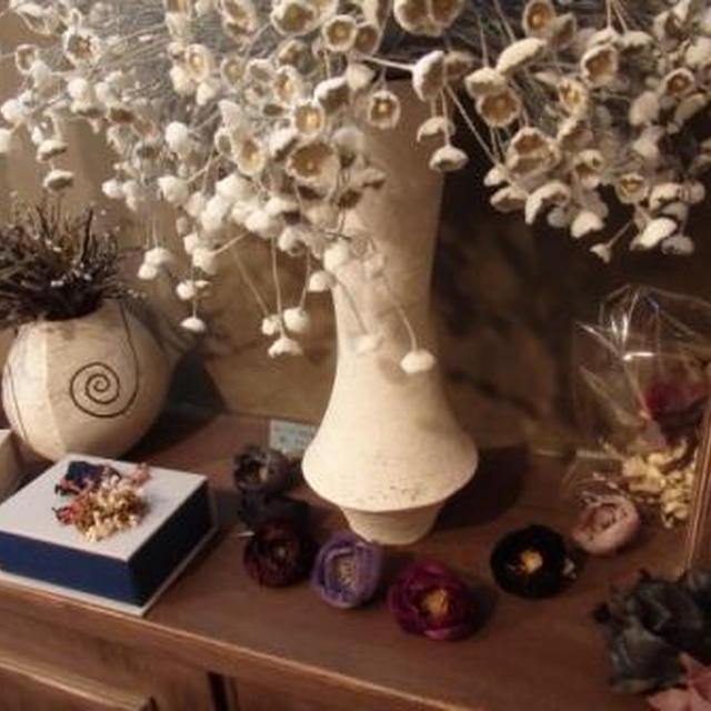 サロン・ノ・フィーユ で、染め花作家 秦 碧 さんのワークショップが開かれました♪