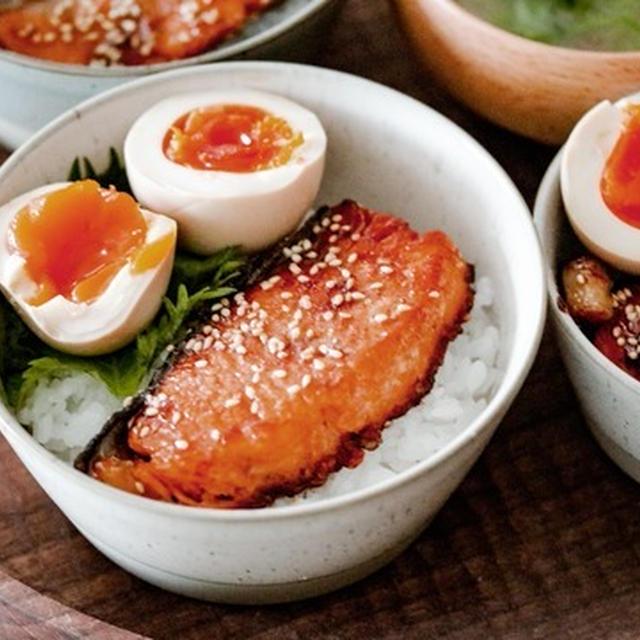 背伸びしない朝ごはん*鮭の照り焼き丼とGW初日