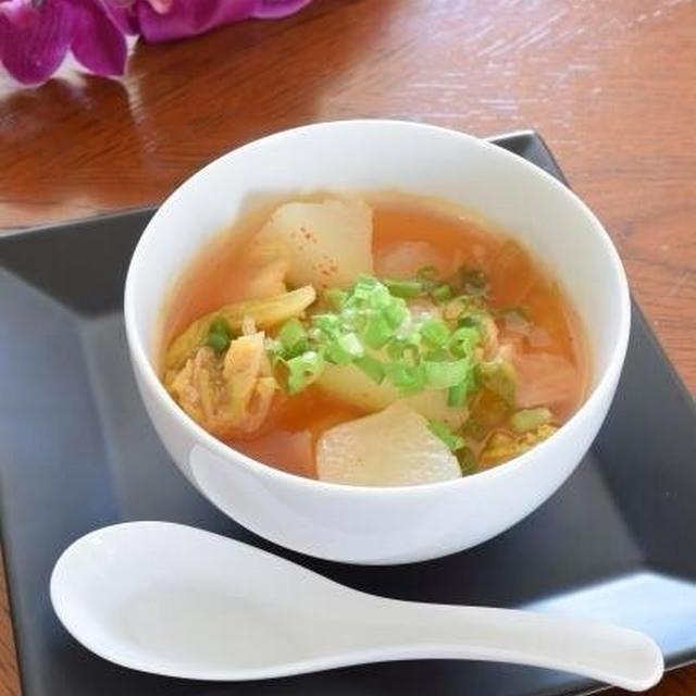 冬瓜とキムチのスープ  冷え症の人にお薦めです!