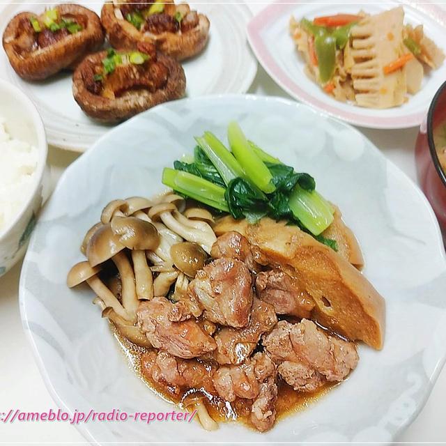 コロナ支援!鴨の治部煮(風)・焼き椎茸・タケノコ炒め☆お取り寄せ食材でお家ごはん♪